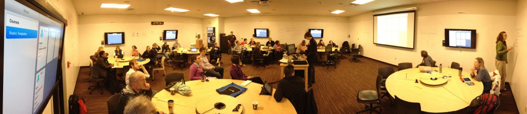 Active learning classroom at Seattle Pacific University