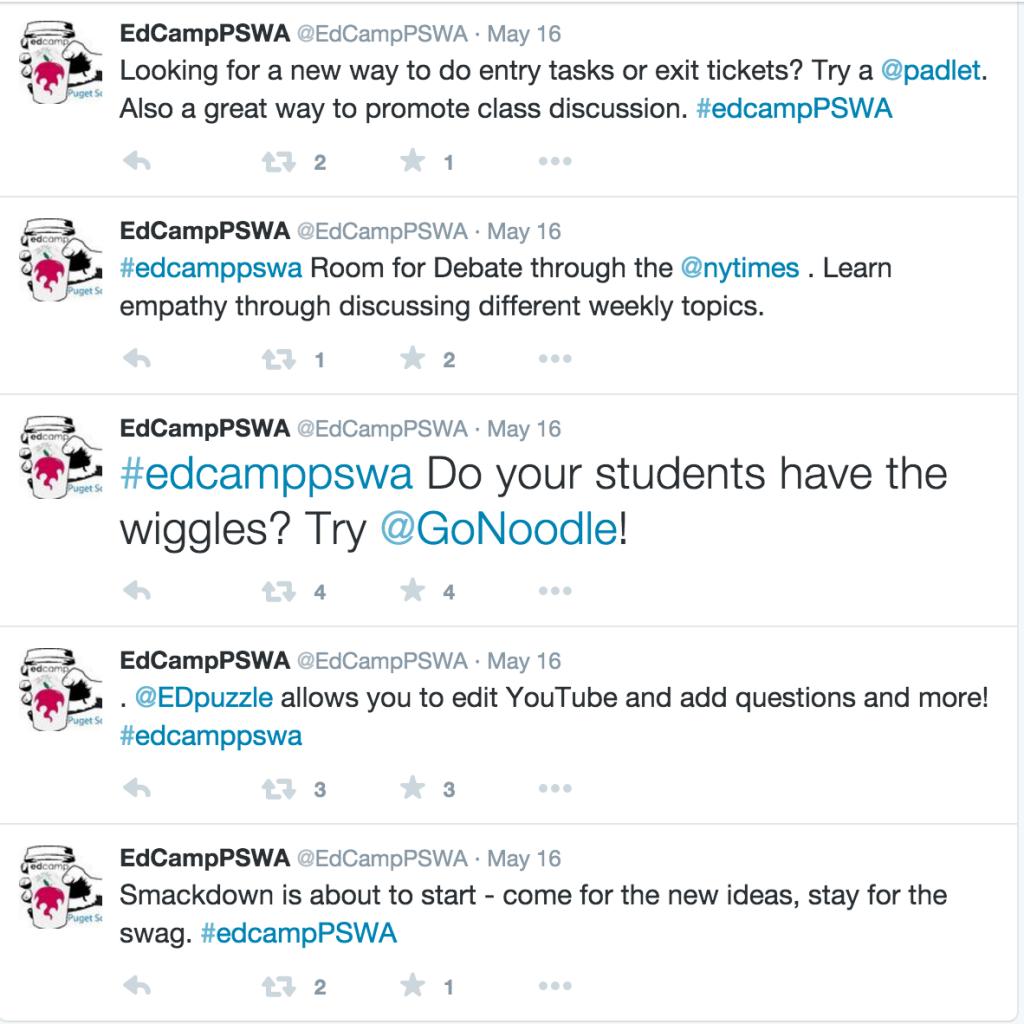 Edcamp Smackdown Tweets